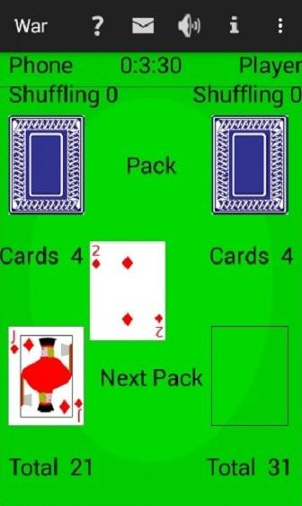 War Card Game- screenshot