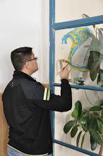 Photo: Vlastní výzdova učebny výtvarné výchovy studenty 1. a 2. ročníku našeho gymnázia (leden a únor 2012).