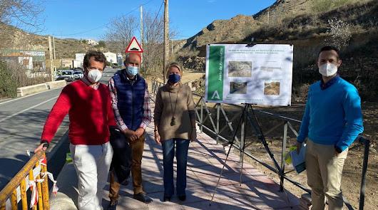 Más acerado y una pasarela peatonal para la travesía de Albanchez