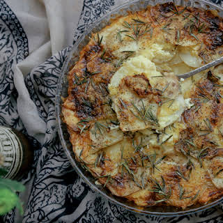 Potato Bake with Rosemary + Cheddar.