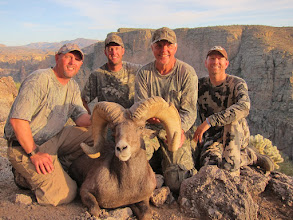 Photo: Jeremy, Seth, Ernie and Jay with the ram