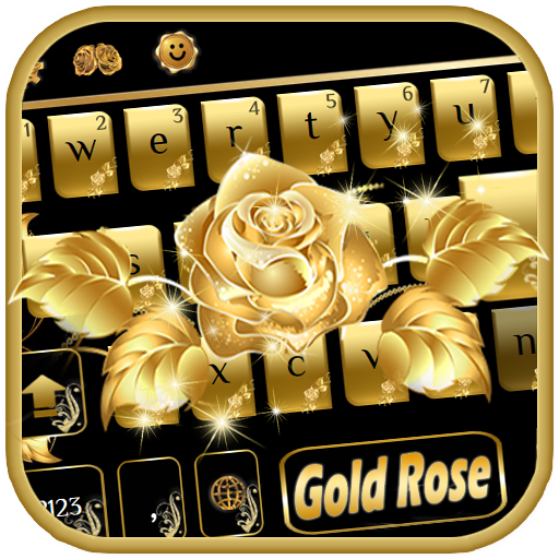 Gold rose Keyboard Theme file APK for Gaming PC/PS3/PS4 Smart TV