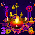3D Happy Diwali Launcher Theme 🪔 icon