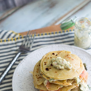 Smoked Salmon Crepes (Blini) with Dill Aioli