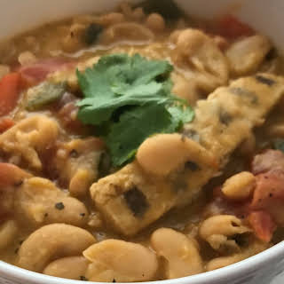 White Bean and Chicken Vegan Chili.