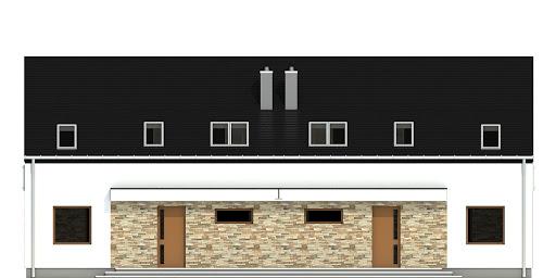 Sosnówka bez garażu bliźniak B-BL1 - Elewacja przednia