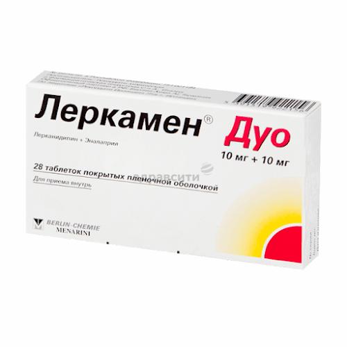 Леркамен Дуо таб. п/о плён. 10мг + 10мг №28
