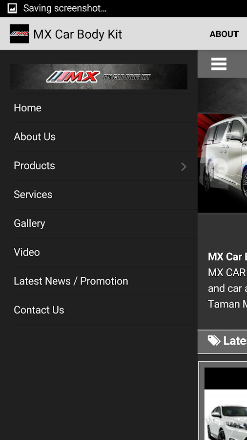 Mxcarbodykit.com- screenshot