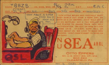 Photo: 1929 My earliest Otto Eppers QSL Card