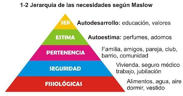Cuáles son los diferentes niveles de necesidades?