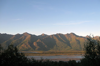 Photo: Sunset: Knik River Valley/Chugach Range