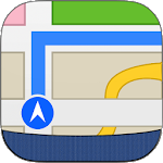 Offline Map Navigation Icon