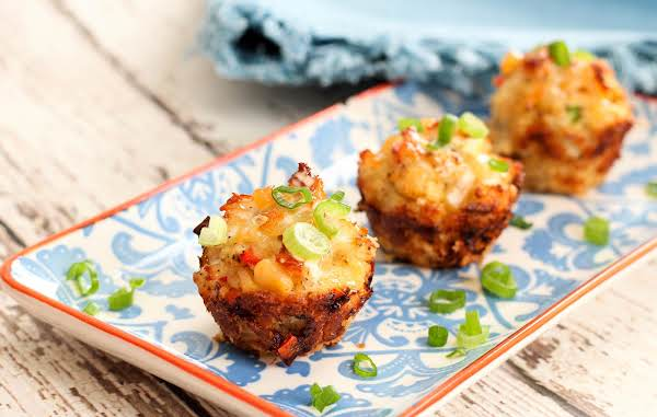 Baked Crab Popper Delights On A Platter.