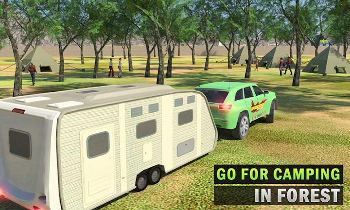 Camper Van Truck Simulator: Cruiser Car Trailer 3D Android App Screenshot