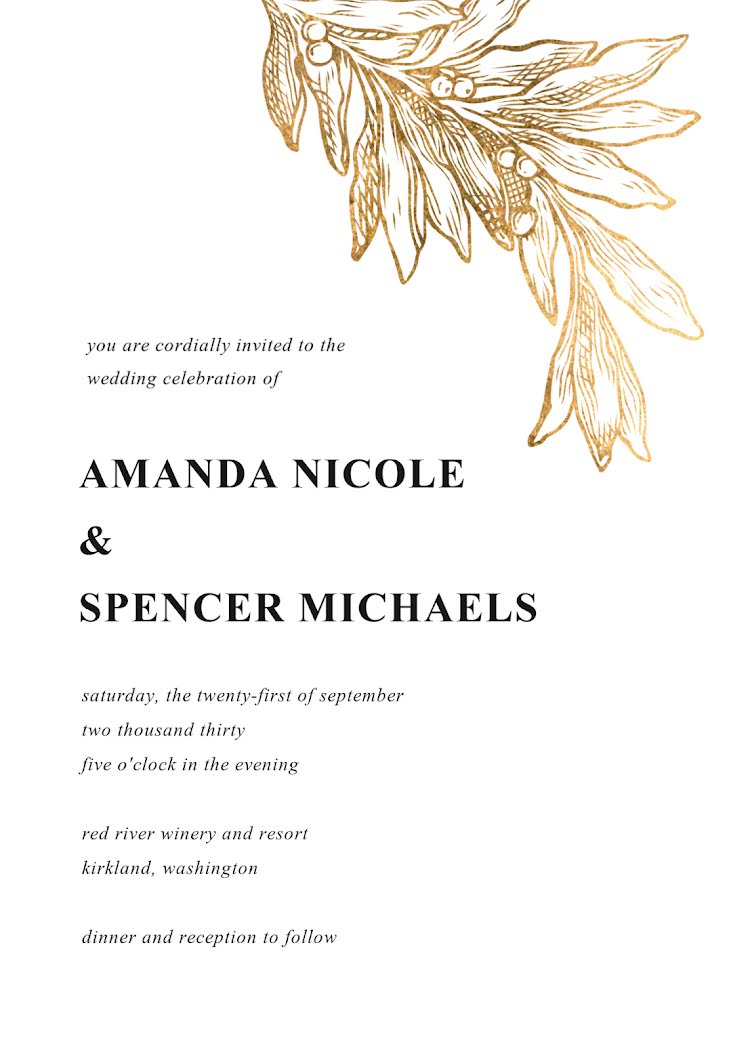 Amanda & Spencer's Wedding - Wedding Invitation Template