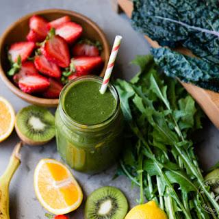 Kiwi Strawberry Green Smoothie.