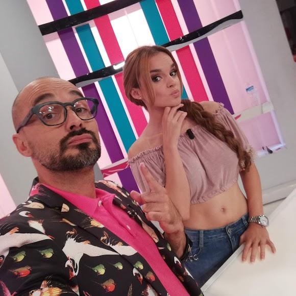 Sergio Morante junto a Mélody.