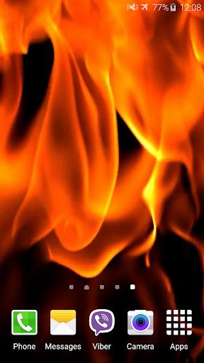 炎は壁紙を生きます