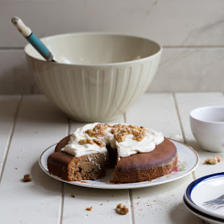 AMARANTH COFFEE AND WALNUT CAKE WITH WHIPPED MAPLE CREAM (gluten-free)