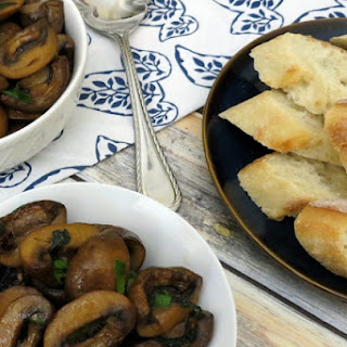Oven Roasted Balsamic Mushrooms with Fresh Herbs