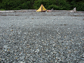 Photo: A perfect gravel beach for camping and landing / launching a kayak.