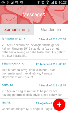 MessageX SMS Zamanlama