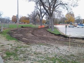 Photo: New path along north edge of main parking lot 11-5-2013