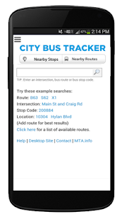 New York Bus Tracker™ App- screenshot thumbnail