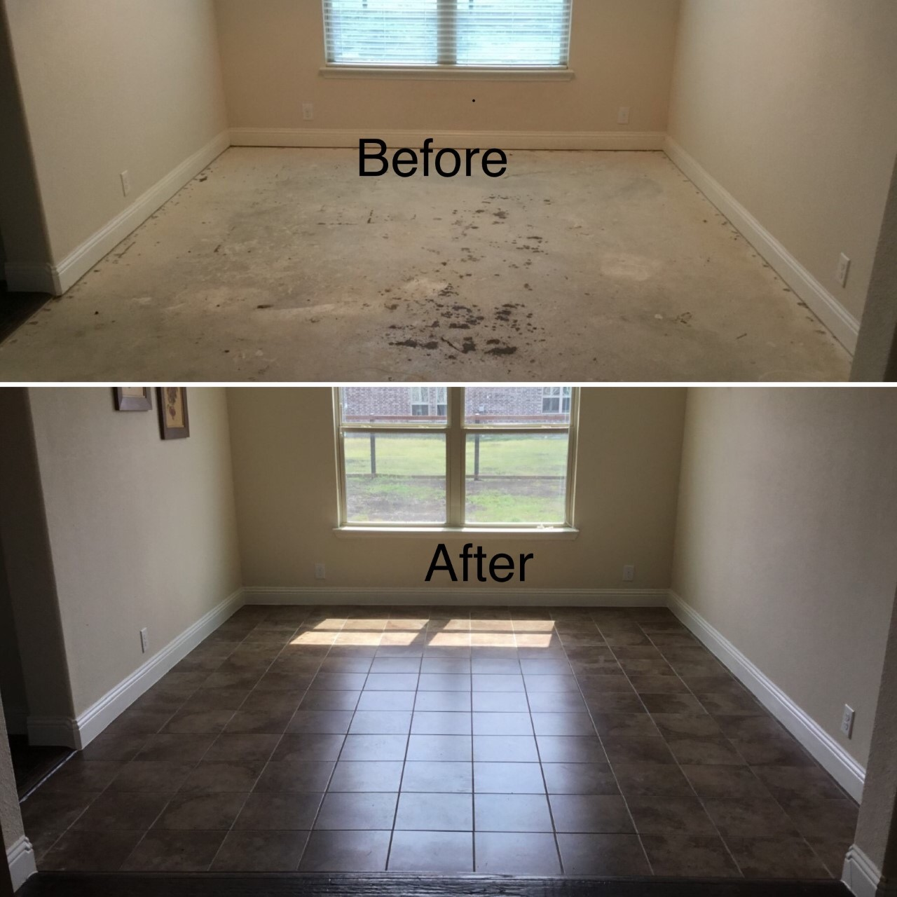 Handyman Allen floor installation and repair.