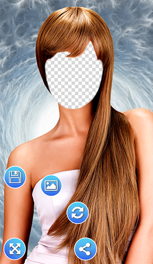 Girl Hairstyle Png : Women hairstyles photo frames android apps on google play