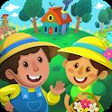Kiddos in Village : Fun & Free Educational Games icon