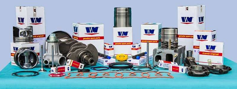 These are the different spare parts for VM motori engines, available at JNL