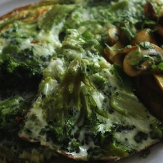 Green and White Omelette