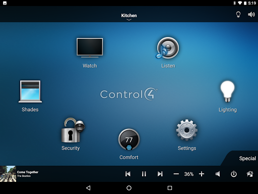 Control4u00ae for Android  screenshots 7