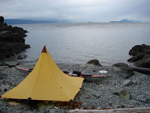 Photo: My campsite near Eldred Rock on Lynn Canal.