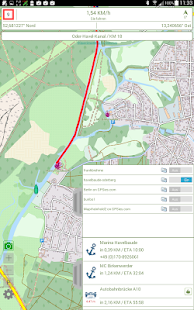 Watertrack Module ROUTE Screenshot
