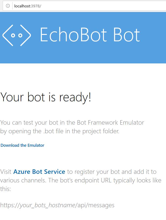 Visual studio 2019: Bot Builder SDK Template - TechNet