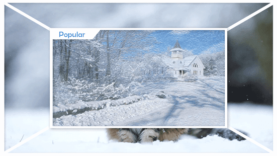 Winter Snow HD Live Wallpaper - náhled