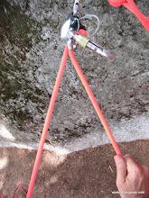 Photo: Aseguramiento al segundo con freno tipo cesta