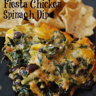 Fiesta Chicken Spinach Dip.