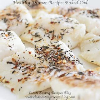 Clean Eating Baked Cod