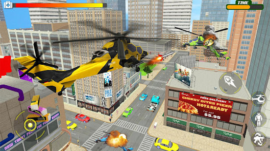 Helicopter Robot Transform War – Air robot games for PC