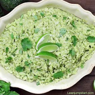 Cilantro Lime Rice with Avocado.