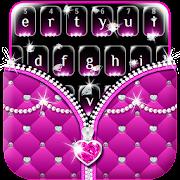Pink Diamond zipper keyboard