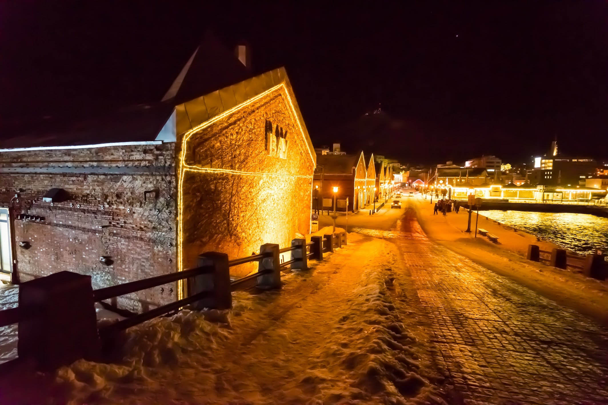Hakodate Bay area Kanemori Red Brick Warehouse light-up3