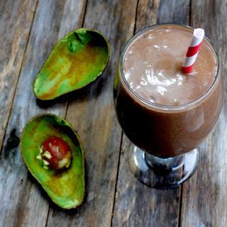 Minty Chocolate Avocado Shake.