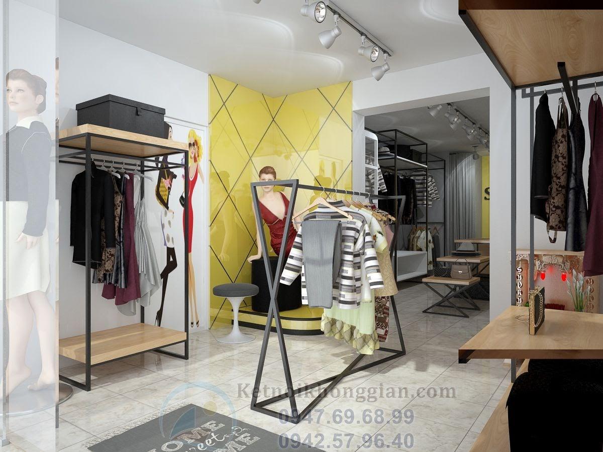 thiết kế cửa hàng quần áo thời trang đẹp