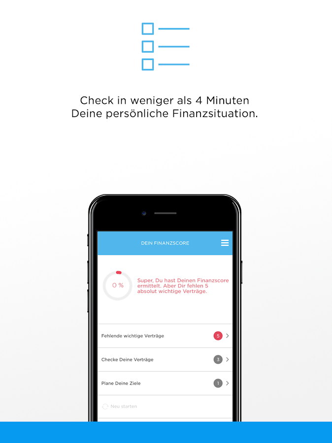 Finanzplaner – Screenshot