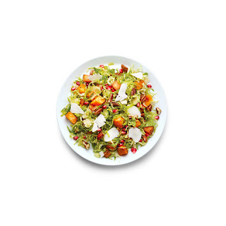 Brussels Sprouts, Sweet Potato, and Pomegranate Seed Salad