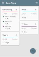 Screenshot of KeepTrack